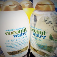 Coconut Water Shampoo & Conditioner. I have also used the Coconut Milk Shampoo & Conditioner which is just as scrumptious!
